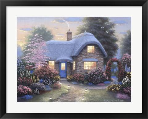 Framed Hutchinson Cottage Print