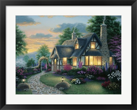 Framed Austin Cottage Print