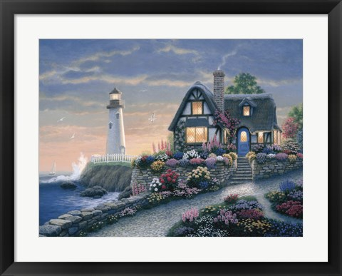 Framed Lighthouse Overlook Print