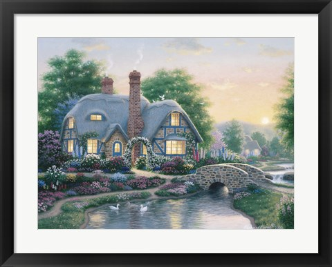 Framed Drake's Cottage Garden Print