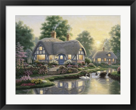 Framed Great Cottage Walkway Print