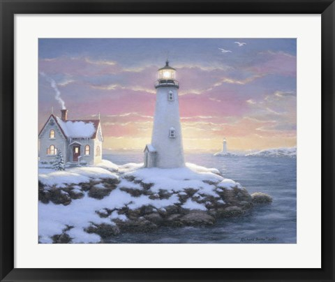 Framed Harbor Lights Print