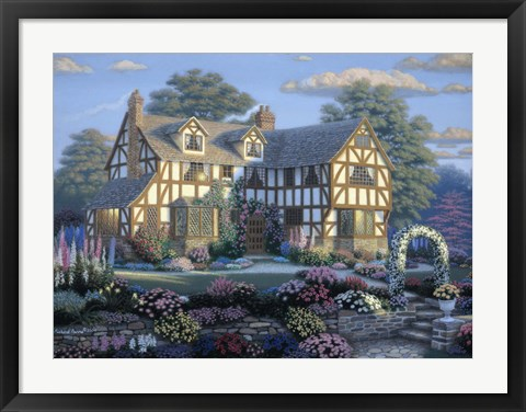 Framed English Tudor Print