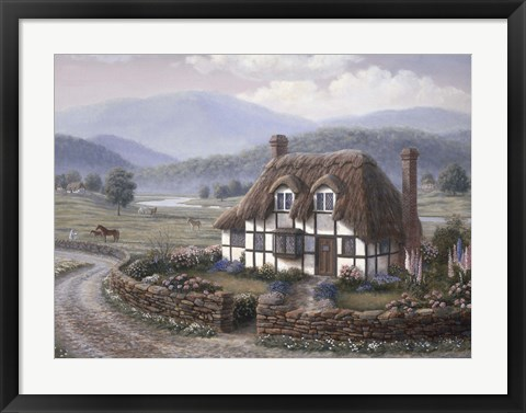 Framed Country Cottage Print