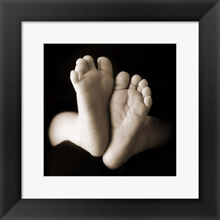 Framed Baby Toes III Print