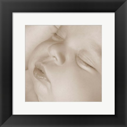 Framed Sleeping Baby Face I Print