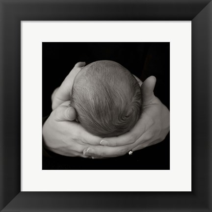 Framed Baby In Hands II Print