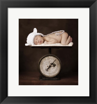 Framed Baby Weight II Print