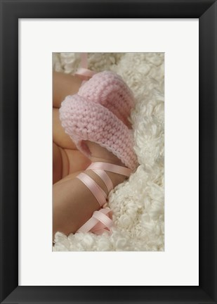 Framed Baby Booties Pink Print