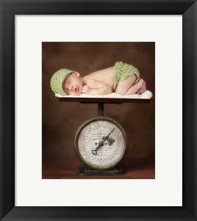 Framed Baby Weight I Print