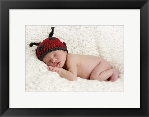 Framed Baby And Bug Ears Print