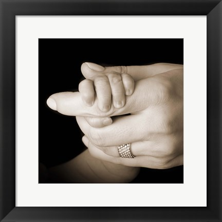 Framed Baby Holding Mother'S Hand Print