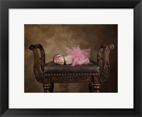 Framed Baby On Leather Seat Print