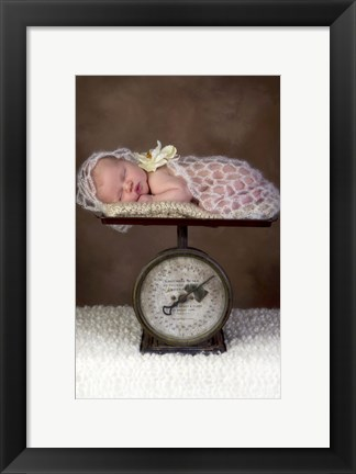 Framed Baby Draped Knit On Scale Print