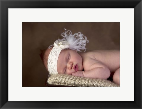 Framed Baby With Lace Headband Print