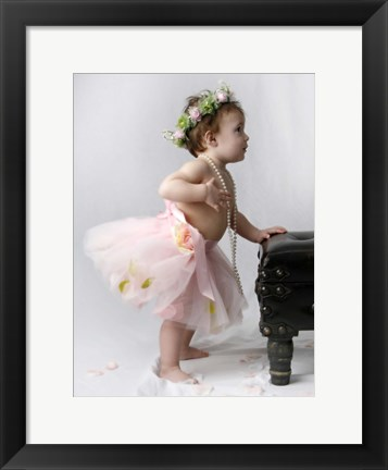 Framed Baby And Tutu Pearls Print