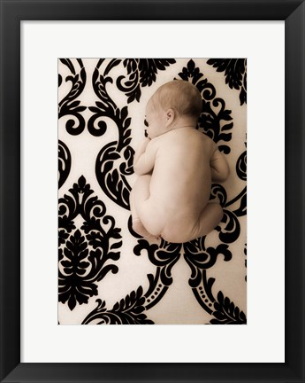 Framed Baby On Nouveau Print
