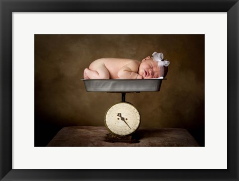 Framed Baby Resting On Scale Print