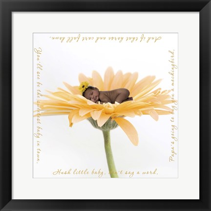 Framed Nielson Margret Yellow Flower I Print