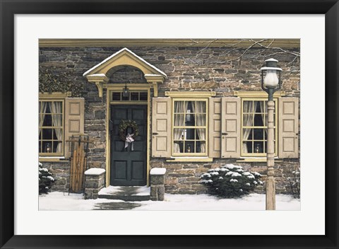 Framed Welcome Home Winter Print