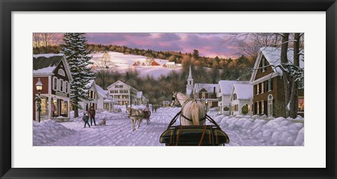 Framed Sleigh Bells Too Print