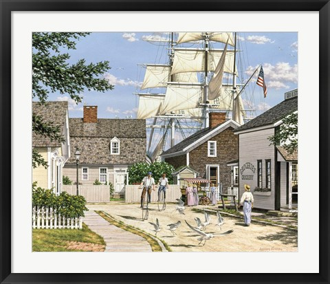 Framed Seaport Wheelman Print