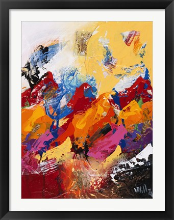 Framed Explosion of Colors 1 Print