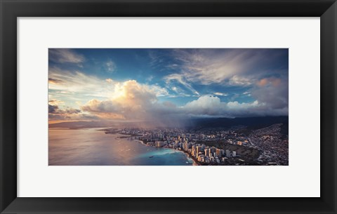 Framed Honolulu Showers Print