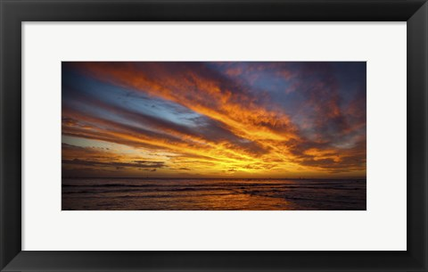 Framed Hyatt Sunset Wide Print