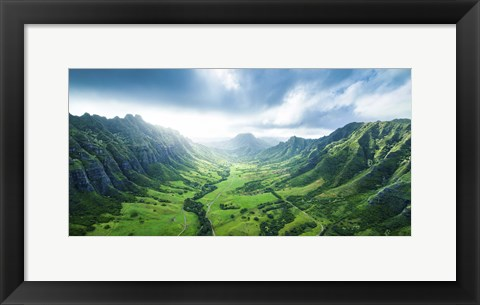 Framed Kaaawa Valley Wide Print