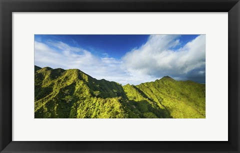 Framed Manoa Mountains Print