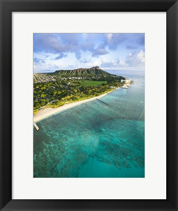 Framed Diamond Head Vertical Print