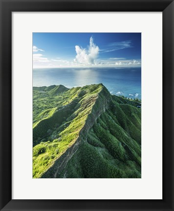 Framed Diamond Head Summit Print