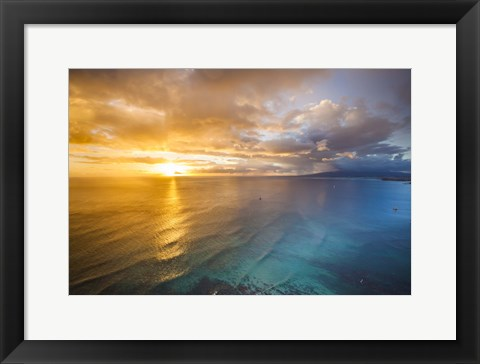 Framed Gold Coast Sunset 2 Print