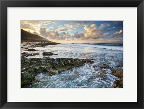 Framed Kaena Point Sunset Print