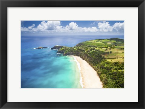 Framed Kauai Lighthouse Beach Print