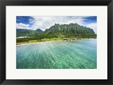 Framed Kualoa Beach Print