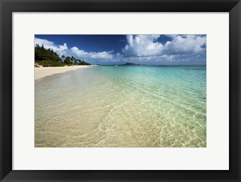 Framed Lanikai Beach Print