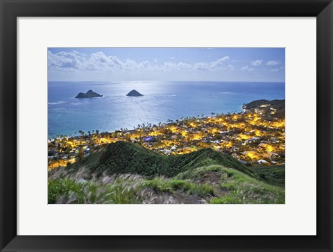 Framed Lanikai Moonlight Print
