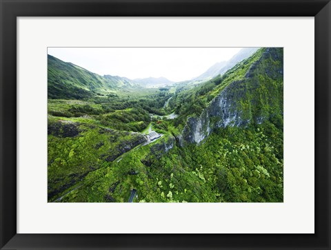Framed Pali Lookout Print