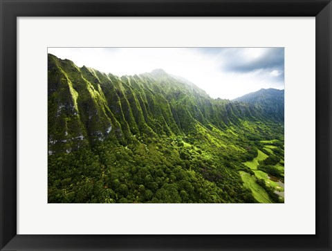Framed Pali Mountains Print