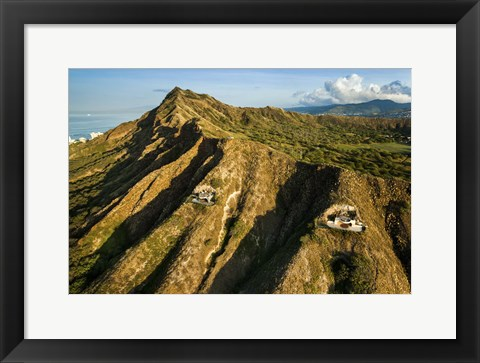 Framed Diamond Head Bunkers Print