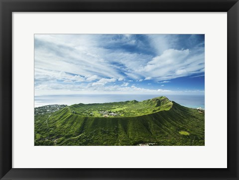 Framed Diamond Head Lush Print