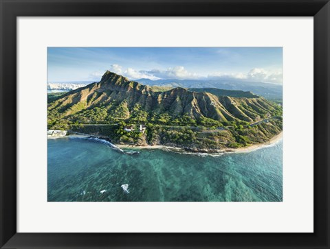 Framed Diamond Head Surf Spot Print