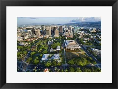 Framed Downtown Honolulu Print
