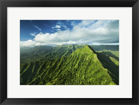 Framed Kaaawa Valley Peak Print