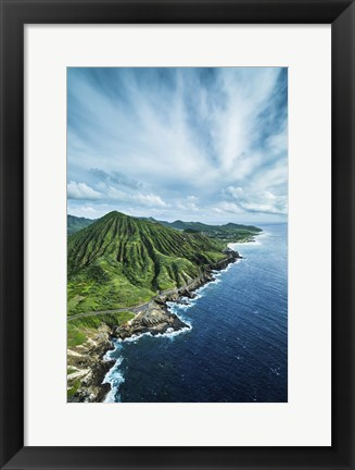 Framed Koko Crater Vertical Print