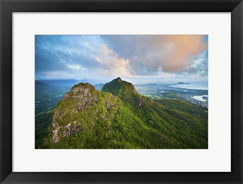 Framed Olomana Sunrise Print
