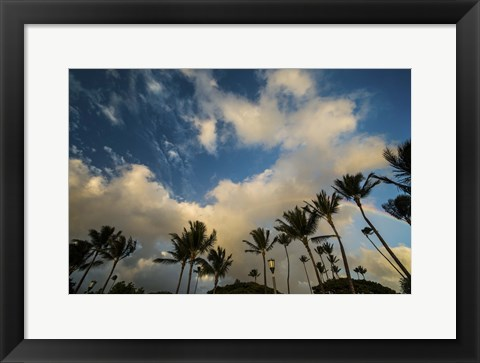 Framed Queens Clouds Print