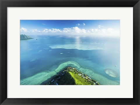 Framed Sandbar Land Edge Print